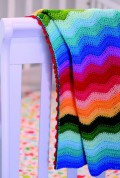 Rainbow Ripple Blanket by O.B Designs