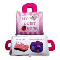 my quiet book pink