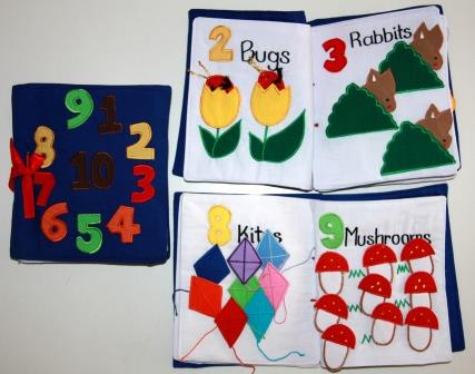 Learn To Count 1-10 Fabric Book