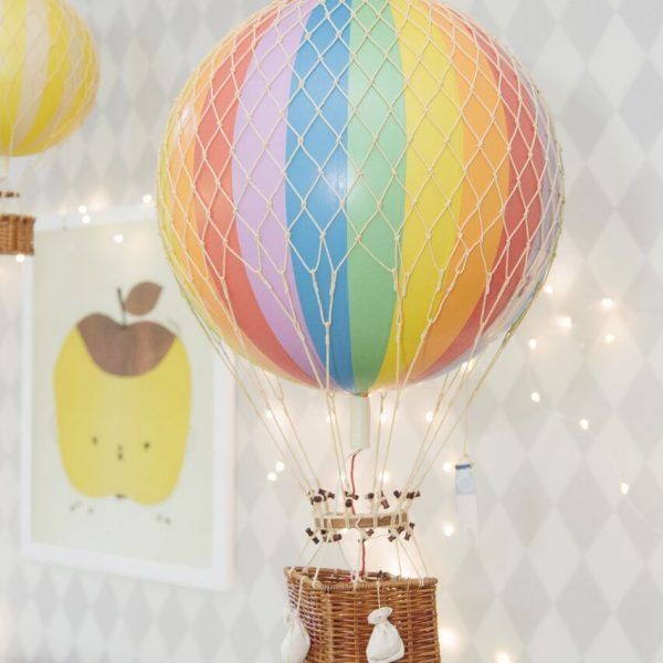large rainbow hot air balloon nursery