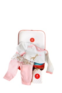 girl pj set suitcase