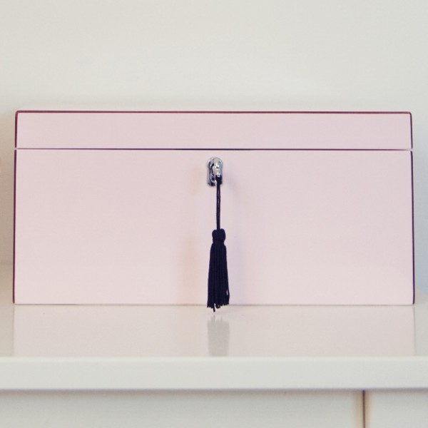 Blush Pink Lacquered Jewellery Box – Large