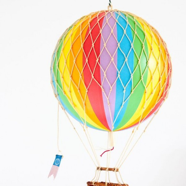 Rainbow hot air balloon Medium Size 3