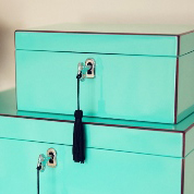 Small Musical Jewellery Box – Aqua Blue