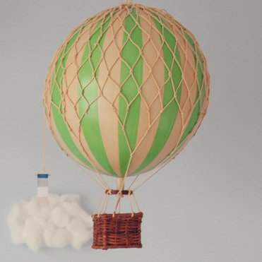 Vintage Hot Air Balloon (Mint Green) – Medium