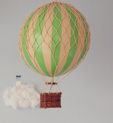green medium balloon