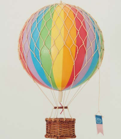 rainbow hot air balloon medium