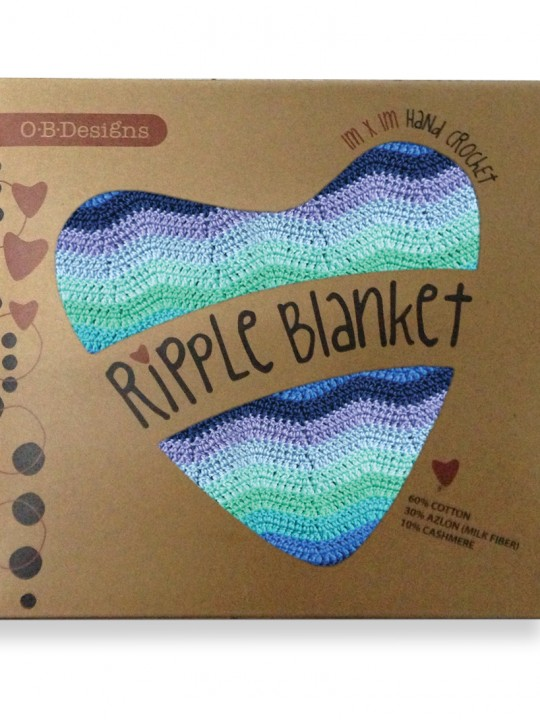 blue ripple blanket box