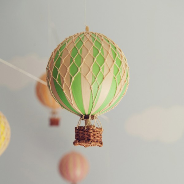 mint green hot air balloon – small