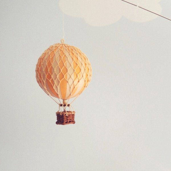 orange hot air balloon – small
