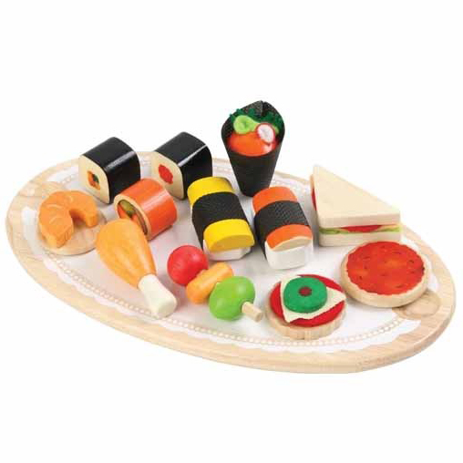 Wooden Tidbits Set