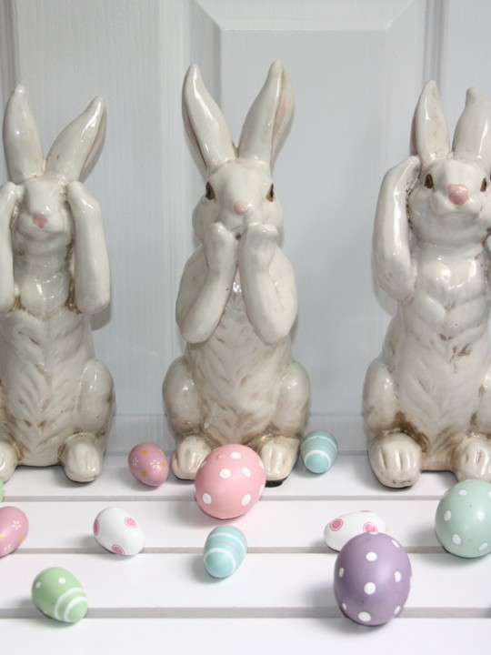 Easter bunnies two