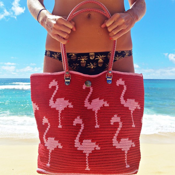 Flamingo Pink Skipping Girl Bag