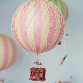 Vintage Hot Air Balloon- Pink