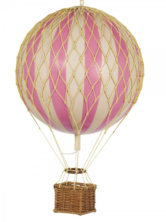 girls bedroom large pink hot air balloon