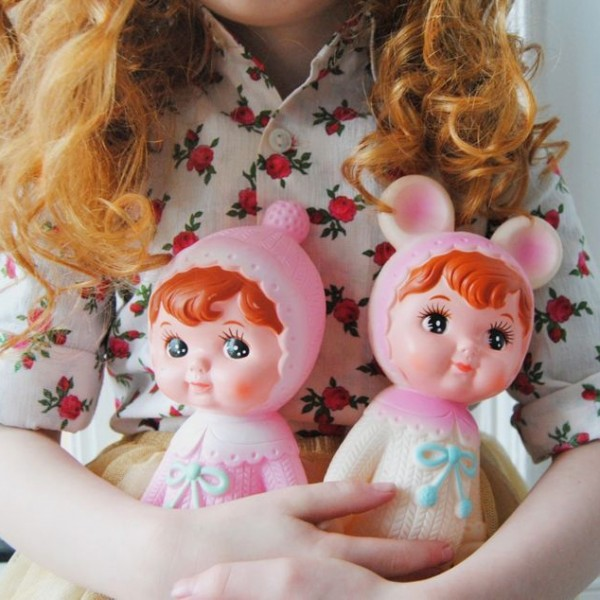 Lapin & Me Woodland Doll- White & blush Pink