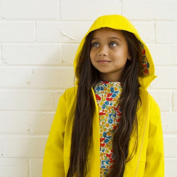 yellow raincoat with liberty hood