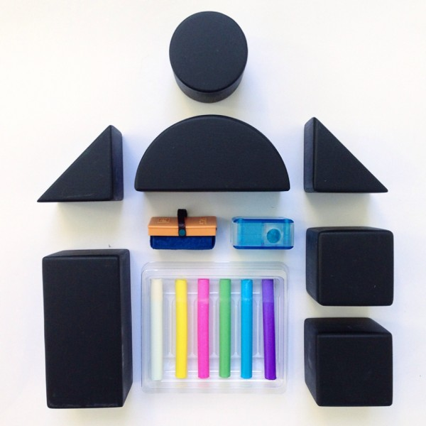 Kitpas Tsumiki blackboard blocks and chalk set