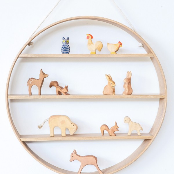 Bride and wolfe OAK circle shelf