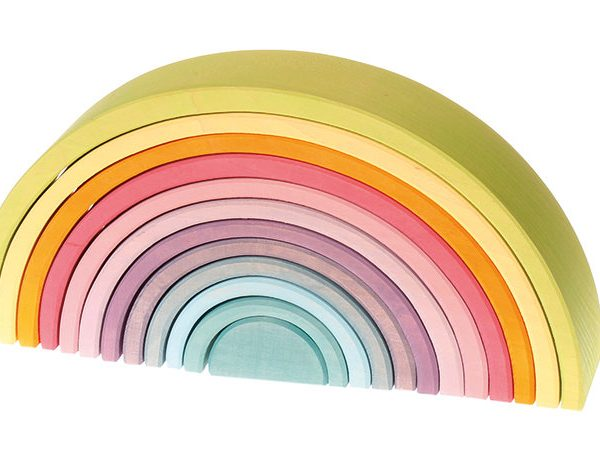 Grimms Pastel wooden tunnel 12 pcs