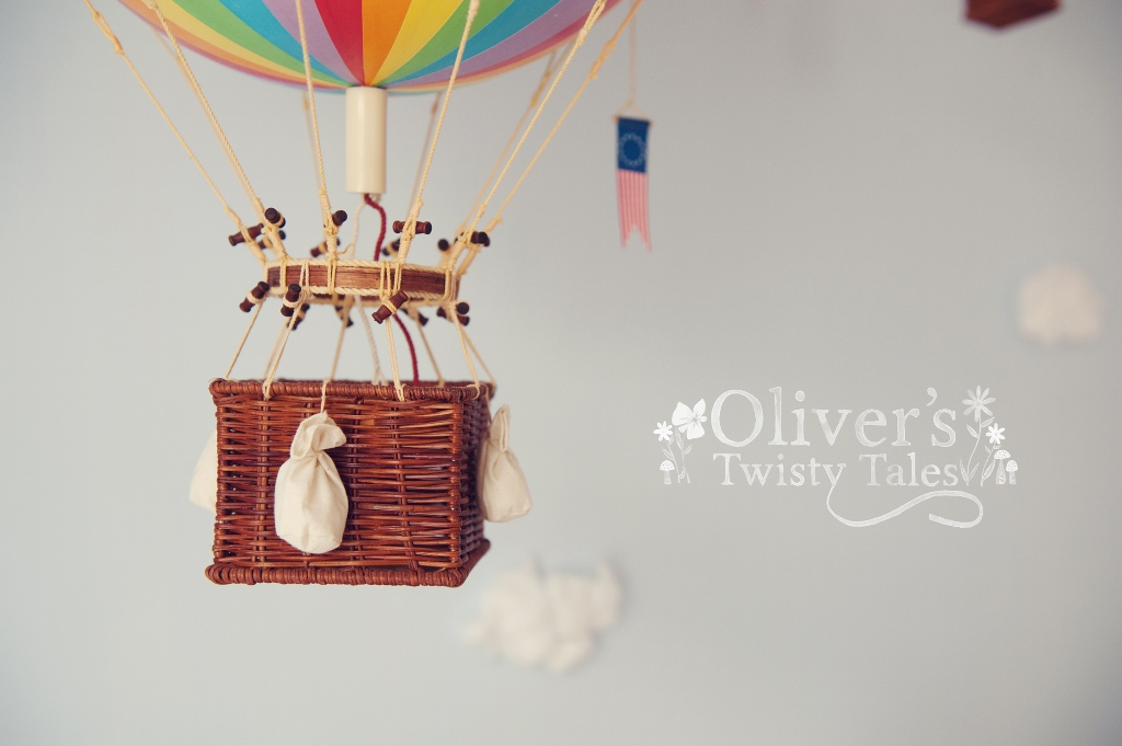 Rainbow Vintage Hot Air Balloon Large Oliver S Twisty Tales