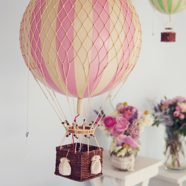 Pink Vintage Hot Air Balloon – Large | Oliver's Twisty Tales